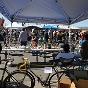 Watching the swap meet action from the Ordinary Bike Shop tent. Bike-tography by Martha Retallick.