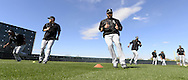 GLENDALE, AZ - FEBRUARY 24:  Adam Eaton #1of the Chicago White Sox participates in base running drills during spring training workouts on February 24, 2015 at The Ballpark at Camelback Ranch in Glendale, Arizona. (Photo by Ron Vesely)   Subject:   Adam Eaton