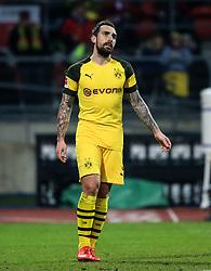 18.02.2019, 22.Spieltag, 1.Bundesliga, 1.FC Nuernberg vs BVB Dortmund, Max Morlock Stadion Nuernberg, Fussball ,Sport im Bild:.. Tor ungueltig, Paco Alcacer (BVB) ist nach dem Abseits enttauescht..DFL REGULATIONS PROHIBIT ANY USE OF PHOTOGRAPHS AS IMAGE SEQUENCES AND / OR QUASI VIDEO...Copyright: Philippe Ruiz..Tel: 089 745 82 22.Handy: 0177 29 39 408.e-Mail: philippe_ruiz@gmx.de (Credit Image: © Philippe Ruiz/Xinhua via ZUMA Wire)