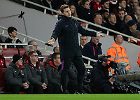 Football - 2018 / 2019 EFL Carabao Cup (League Cup) - Quarter-Final: Arsenal vs. Tottenham Hotspur<br /> <br /> Mauricio Pochettino, Manager of Tottenham FC, reacts after a decision goes against his team at The Emirates.<br /> <br /> COLORSPORT/DANIEL BEARHAM