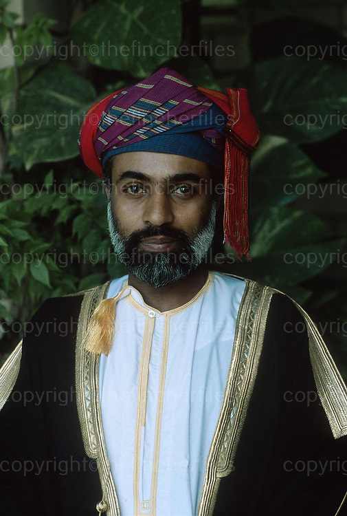 Sultan Said Bin Qaboos, Ruler of Oman seen at his palace in Muscat in 1979. Photographed by Terry Fincher