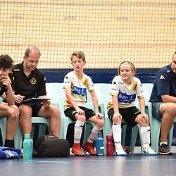 BRISBANE, AUSTRALIA - NOVEMBER 14:  during the QLD Futsal Junior Superliga match between Elitefoot u10 White and u10 Predators United Futsal Club Force at Anna Meares Velodrome on November 14, 2020 in Brisbane, Australia. (Photo by Patrick Kearney)