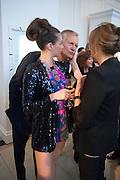 SASKIA BOXFORD; CHARLES DELEVIGNE; CAROL WOOLTON, Cartier Tank Anglaise launch. Kensington Palace Orangery, London.  19 April 2012.