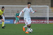 Alejandro Baena Rodriguez of Spain (7) during the UEFA European Under 17 Championship 2018 match between Netherlands and Spain at the Pirelli Stadium, Burton upon Trent, England on 8 May 2018. Picture by Mick Haynes.