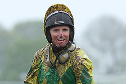 Jockey Jamie Codd after The Goffs Land Rover Bumper during day one of the Punchestown Festival at Punchestown Racecourse, County Kildare, Ireland.