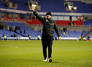 Chris Wilder manager of Sheffield Utd acknowledges the support of the fans during the FA Cup match at the Madejski Stadium, Reading. Picture date: 3rd March 2020. Picture credit should read: Simon Bellis/Sportimage