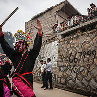 Guardian demons dance and twirl in Mazu's parade. <br /> <br /> Because religion was suppressed for so many years by the Communist government, festival organizers had to consult elderly villagers in order to properly reconstruct the procession for the goddess.