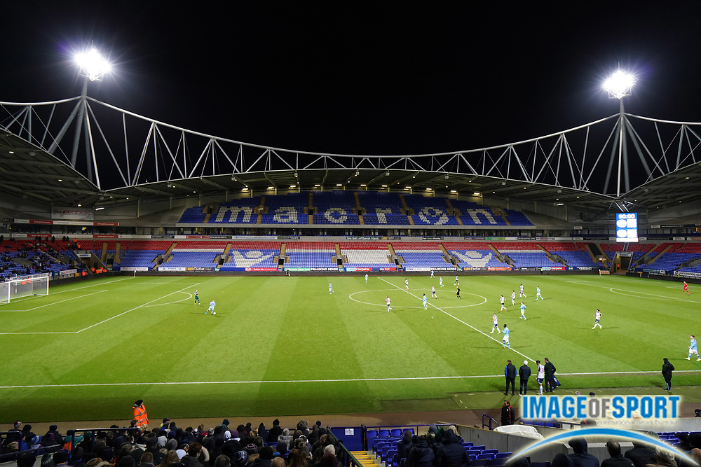 General overall view of an EFL Trophy match between the Manchester United U21 and the Bolton Wanderers at the University of Bolton stadium, Tuesday, Oct. 29, 2019, in Manchester, United Kingdom.