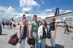 J. & Dana Nichols & Hosts At Haneda Airport