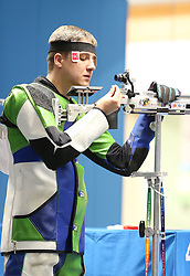 05.09.2015, Olympia Schiessanlage Hochbrueck, Muenchen, GER, ISSF World Cup 2015, Gewehr, Pistole, Herren, 10 Meter Luftgewehr, im Bild Oleh Tsarkov (UKR) // during the men's 10M air rifle competition of the 2015 ISSF World Cup at the Olympia Schiessanlage Hochbrueck in Muenchen, Germany on 2015/09/05. EXPA Pictures © 2015, PhotoCredit: EXPA/ Eibner-Pressefoto/ Wuest<br /> <br /> *****ATTENTION - OUT of GER*****