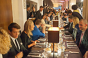 DINNER, Dinner to celebrate the opening of the first Berluti lifestyle store hosted by Antoine Arnault and Marigay Mckee. Harrods. London. 5 September 2012.