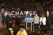 New Jersey State Senate President and Former Governor Richard Codey at Presidental Candidate Barack Obama Rally at The Izod Center at the Meadowlands in New Jersey on February 4, 2008