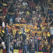 Romania's supporters during their FIFA World Cup 2014 qualifying soccer match Turkey betwen Romania at Sukru Saracoglu stadium in Istanbul october 12, 2012. Photo by TURKPIX