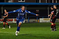 Sam Sloma (Grays) raises his arms to celebrate scoring the first goal. Grays Athletic Vs Carlisle United. FA Cup 1st round replay. The New Recreation Ground. Essex. 18/11/2008. Credit Colorsport/Garry Bowden