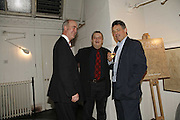 Charles Saumeraz Smith, Norman Rosenthall and Richard Brooks, Book Launch of ' School of Genius' by James Fenton. Life Room of the Royal academy Schools. Royal academy of arts. London W1. 6 April 2006. ONE TIME USE ONLY - DO NOT ARCHIVE  © Copyright Photograph by Dafydd Jones 66 Stockwell Park Rd. London SW9 0DA Tel 020 7733 0108 www.dafjones.com