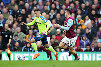 Aston Villa v Derby County - Sky Bet Championship<br /> BIRMINGHAM, ENGLAND - APRIL 28 :  Tom Lawrence, of Derby County gets away from Aston Villa's Jack Grealish