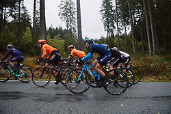 Katrine Aalerud (NOR) in the lead group at the 2020 Liège Bastogne Liège, a 135 km road race from Bastogne to Liège, Belgium on October 4, 2020. Photo by Sean Robinson/velofocus.com