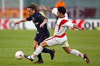 Roma 3/3/2004 Uefa Cup Third Round <br />Roma Gaziatenspor 2-0 (AS Roma qualified) <br />Antonio Cassano (Roma) challenged by Mehmet Polat (Gaziatenspor)<br />Foto Andrea Staccioli Digitalsport