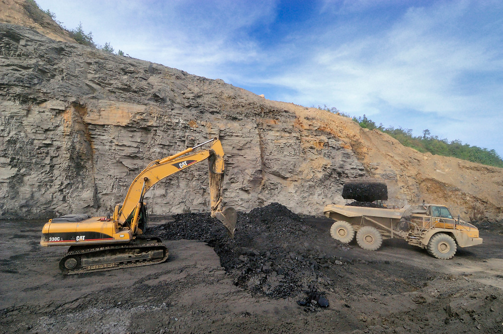 Coal mining in southeastern Kentucky.