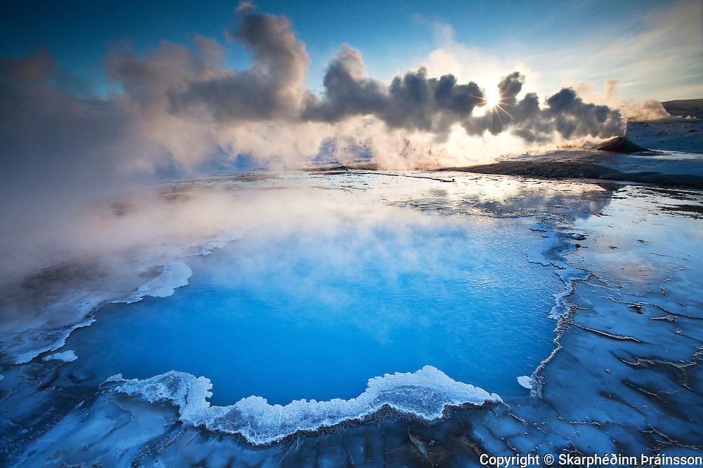 Blue Pool / Bláhver in Hveravellir, central highlands of Iceland