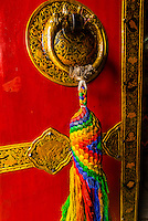 Door knocker, Lhasa, Tibet (Xizang), China.