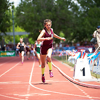 Rehoboth Lynx freshman Anna Huizinga, crosses the finish line to win the 800m race in NMAA 2A Girls State Championship in Albuquerque on Friday.