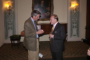 Andrew Mitchell ( newly elected MP)and Andrew Roberts. Book party to celebrate the publication of ' How the King of Scots Won the Throne of England in 1603 by Leanda de Lisle. St. Wilfred's Hall. Brompton Oratory. London. 9 May 2005. ONE TIME USE ONLY - DO NOT ARCHIVE  © Copyright Photograph by Dafydd Jones 66 Stockwell Park Rd. London SW9 0DA Tel 020 7733 0108 www.dafjones.com