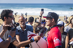 October 12, 2017 - Gabriel Medina (BRA) Placed 1st in Heat 8 of Round One at Quiksilver Pro France 2017, Hossegor, France..Quiksilver Pro France 2017, Landes, France - 12 Oct 2017 (Credit Image: © WSL via ZUMA Press)