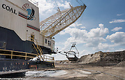 Understanding the scale of the machines used in mining is hard as all the machines are massive. Shown here is a Bucyrus 8200 Dragline. The boom is 355 feet long.