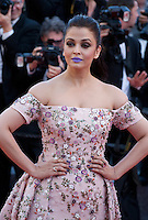 Actress Aishwarya Rai at the gala screening for the film Mal De Pierres (From the Land of the Moon) at the 69th Cannes Film Festival, Sunday 15th May 2016, Cannes, France. Photography: Doreen Kennedy