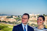 PRINSES VICTORIA EN PRINS DANIEL IN ITALY dag 2 rome