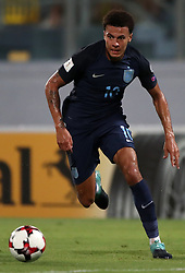 England's Dele Alli during the 2018 FIFA World Cup Qualifying, Group F match at the National Stadium, Ta' Qali. PRESS ASSOCIATION Photo. Picture date: Friday September 1, 2017. See PA story SOCCER Malta. Photo credit should read: Nick Potts/PA Wire. RESTRICTIONS: Use subject to FA restrictions. Editorial use only. Commercial use only with prior written consent of the FA. No editing except cropping.