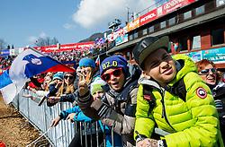 Supporters during Men Giant Slalom race of FIS Alpine Ski World Cup 54th Vitranc Cup 2015, on March 14, 2015 in Kranjska Gora, Slovenia. Photo by Vid Ponikvar / Sportida