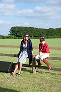 DEBORAH LODGE; PATRICK LODGE, The Dalwhinnie Crook  charity Polo match  at Longdole  Polo Club, Birdlip  hosted by the Halcyon Gallery. . 12 June 2010. -DO NOT ARCHIVE-© Copyright Photograph by Dafydd Jones. 248 Clapham Rd. London SW9 0PZ. Tel 0207 820 0771. www.dafjones.com.