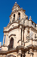 Modica Sicily Cathedral of San Giorgio designed by Gagliardi 1702 a Late Baroque Towns of the Val di Noto (South-Eastern Sicily) and UNESCO World Heritage Site , Modica, Sicily<br /> <br /> USEFUL LINKS<br /> Sicilian Baroque https://en.wikipedia.org/wiki/Sicilian_Baroque<br /> Val di Noto UNESCO World Heritage Page https://whc.unesco.org/en/list/1024-004 .<br /> <br /> Visit our SICILY HISTORIC PLACES PHOTO COLLECTIONS for more   photos  to download or buy as prints https://funkystock.photoshelter.com/gallery-collection/2b-Pictures-Images-of-Sicily-Photos-of-Sicilian-Historic-Landmark-Sites/C0000qAkj8TXCzro<br /> .<br /> <br /> Visit our EARLY MODERN ERA HISTORICAL PLACES PHOTO COLLECTIONS for more photos to buy as wall art prints https://funkystock.photoshelter.com/gallery-collection/Modern-Era-Historic-Places-Art-Artefact-Antiquities-Picture-Images-of/C00002pOjgcLacqI