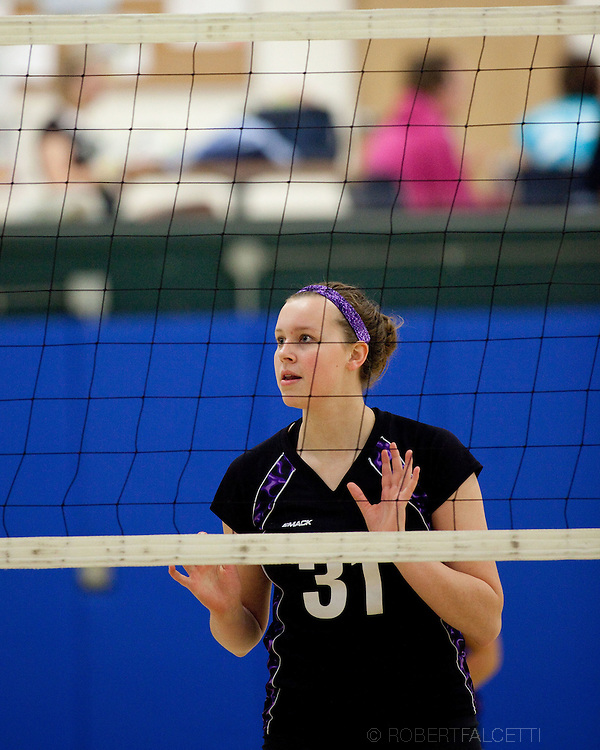 CANTON, CT-April 29, 2012- Hannah Bryant. Vollyball.  (Photo by Robert Falcetti). .
