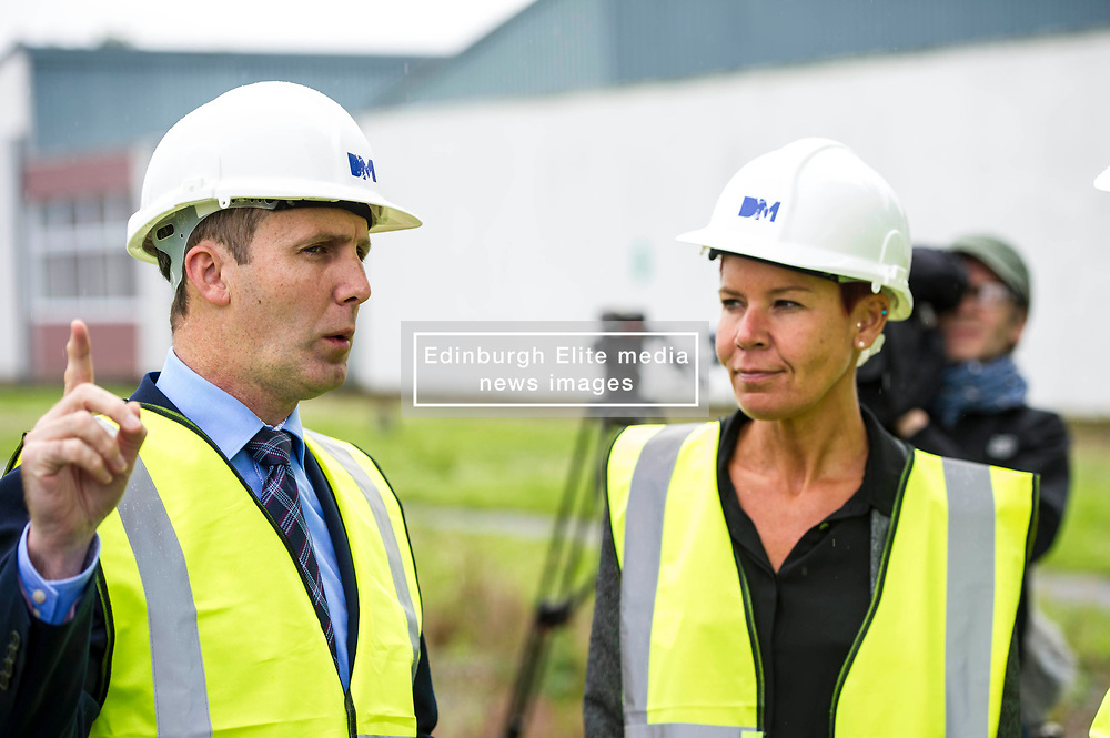 """Pictured: Michael Matheson and governor Caroline Johnstone<br /> Justice Secretary Michael Matheson joined governor Caroline Johnstone to mark the start of demolition of Corton Vale Prison today. Cornton Vale is a women's prison in Stirling, operated by the Scottish Prison Service. Built in 1975, Cornton Vale comprises a total of 217 cells in its 5 houses. Ministers decided to close the prison after former Lord Advocate Elish Angiolini warned it was """"not fit for purpose"""".<br />  <br /> Ger Harley   EEm 11 July  2017"""