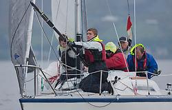 Pelle P Kip Regatta 2017 run by Royal Western Yacht Club at Kip Marina on the Clyde. <br /> <br /> GBR7029, Farr e Nuff, John Kent, LSC/FYC, Farr 727<br /> <br /> Image Credit Marc Turner