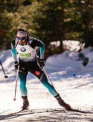 22.02.2020, Suedtirol Arena, Antholz, ITA, IBU Weltmeisterschaften Biathlon, Herren, 4 x 7,5 km Staffel, im Bild Martin Fourcade (FRA) // Martin Fourcade of France during men's 4 x 7,5 km Relay of IBU Biathlon World Championships 2020 at the Suedtirol Arena in Antholz, Italy on 2020/02/22. EXPA Pictures © 2020, PhotoCredit: EXPA/ Stefan Adelsberger