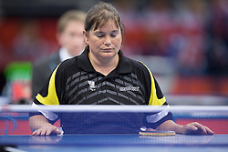 Doris Mader of Austria competes in the Women's Singles - Class 3 Group F Table Tennis during Day 2 of the Summer Paralympic Games London 2012 on August 29, 2012, in ExCel, London, Great Britain. (Photo by Vid Ponikvar / Sportida.com)