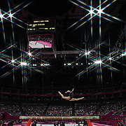 Catalina Ponor, Romania, in action during the Women's Gymnastics Apparatus Beam final at North Greenwich Arena during the London 2012 Olympic games London, UK. 7th August 2012. Photo Tim Clayton