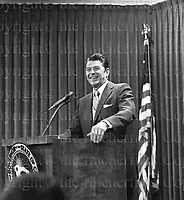 Ronald Reagan seen during his time as the Governor of California in 1974. Photograph by Terry Fincher