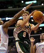 NBA-Seattle SuperSonics at LA Clippers-Apr 14, 2004