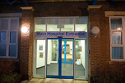 ©Licensed to London News Pictures 29/02/2020<br /> Sevenoaks, UK.  Sevenoaks Minor injuries unit at Sevenoaks Hospital in Sevenoaks, Kent is closed and on lockdown tonight due to two suspected cases of Coronavirus. Photo credit: Grant Falvey/LNP