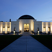 LOS ANGELES, CA, FEBRUARY 17, 2007: The Griffith Park Observatory  reopened after a four year major renovation. The observatory is considered one of the finest in America and claims more people view it's telescopes than any other telescopes in the world.. (Photograph by Todd Bigelow/Aurora)