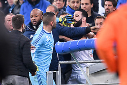 March 18, 2018 - Marseille, France - 23 ADIL RAMI (OM) - 01 ANTHONY LOPES (OL) - COLERE - ALTERCATION (Credit Image: © Panoramic via ZUMA Press)