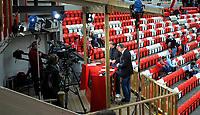 Fotball<br /> 28. Mai 2009<br /> Tippeligaen<br /> Brann stadion<br /> Brann - Molde 2 - 0<br /> Tv studio på Brann stadions vestre hjørne<br /> Foto : Astrid M. Nordhaug