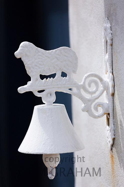 Traditional and quaint doorbell of house on Fano Island - Fanoe - South Jutland, Denmark