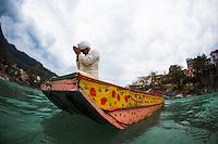 Deep Deka floating over the Ganga