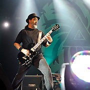 FAIRFAX, VA - July 12th, 2011 - Kim Thayil of reunited grunge heavyweights Soundgarden performs at the Patriot Center in Fairfax, VA. The band reunited last year after a 12 year break and are currently writing new material for an album to be released in 2012.  (Photo by Kyle Gustafson/For The Washington Post)